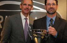2014 Counter Professional of the Year recipient Russell Paroff (right) with Dan Askey, president of NAPA Auto Parts