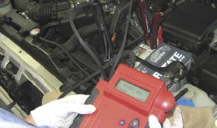 technician using tester