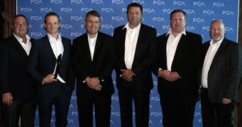 From left: Dan Ehde – OES business unit director, Trico Products Corp.; Bryan Musialowski – OES account manager, Trico Products Corp.; Scott Thiele – global chief purchasing officer, FCA; Chuck Bastedo – account manager, Trico Products Corp.; Dave Parker – executive director OE Sales, Trico Products Corp.; Bret Hardy – Director of Mopar Purchasing and Supplier Quality, FCA