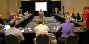 John R. Washbish addresses the Aftermarket Auto Parts Alliance Sales and Marketing Committee and IT Committee Joint Session.