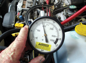 low fuel pressure can be caused by a worn fuel pump or a defective fuel pressure regulator.